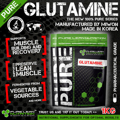 L-Glutamine 1Kg Micronised Highest Quality Ajinomoto 100% Pure Muscle Recovery