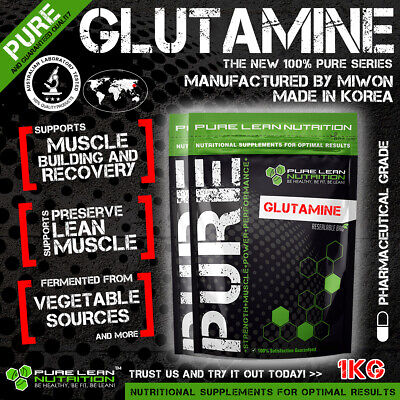 L-Glutamine 1Kg Micronised Highest Quality Miwon Korea 100% Pure Muscle Recovery