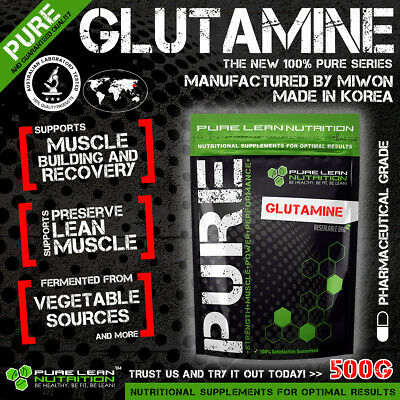 L-Glutamine 500G Micronised Highest Quality Miwon Korea Pure Muscle Recovery *