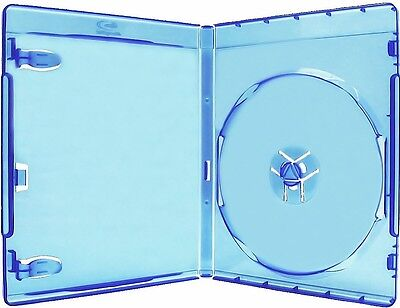 100 Single Standard 12mm Premium Blu-Ray Blu Ray DVD Case Logo [Fedex Ground]