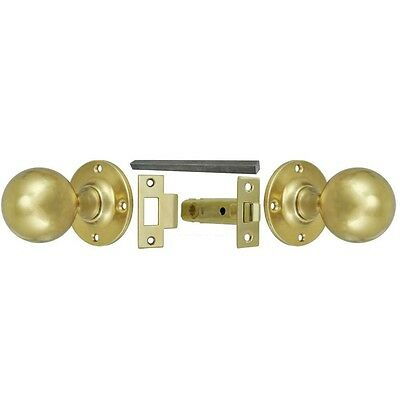 Cast Brass Round Knob Interior Passage Door Set (106KPSET)