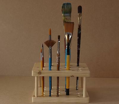 Artist's Paint Brush Holder / Stand -  Wood Hand Made Custom Built Personalised
