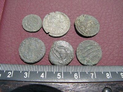 6 HQ Ancient Roman coins + 4 oz. Mint State Restoration Coin Cleaner MSR 095