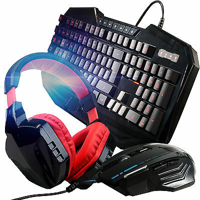 ARES K3 3 Colors Gaming Keyboard T80 Mouse CT-820 Red Headphone Bundles Combo