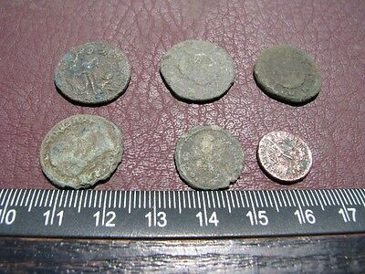 6 HQ Ancient Roman coins + 4 oz. Mint State Restoration Coin Cleaner MSR 081