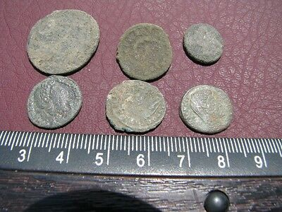 6 HQ Ancient Roman coins + 4 oz. Mint State Restoration Coin Cleaner MSR 092