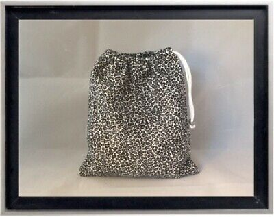 Gymnastics Leotard Grip Bags / Gray Cheetah Gymnast Birthday Goody Bag