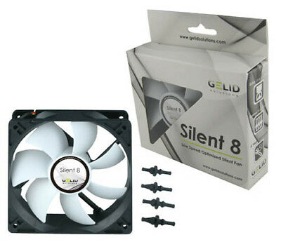 GeLid Silent8 FN-SX08-16 80mm 18dBa Shock Absorbing Silent PC Computer Case Fan