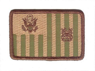 """Ensign flag 3""""wx2""""h woodland small rounded W5351 USCG Coast Guard patch"""