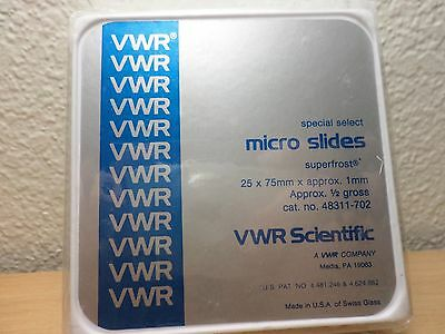 VWR Premium Superfrost Frosted Microscope Slides 75 x 25mm 1/2 Gross 72 Qty