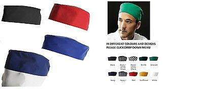 Chefs Skull Cap Chef Hat Professional Catering Chef Cap - Various Colours