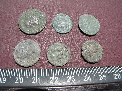6 HQ Ancient Roman coins + 4 oz. Mint State Restoration Coin Cleaner MSR 091