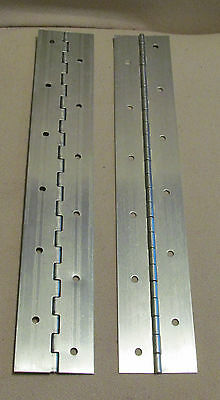 "A Pair 2 Aluminum Piano Hinge 1""x1""x12"" 20 Gauge Made in USA"