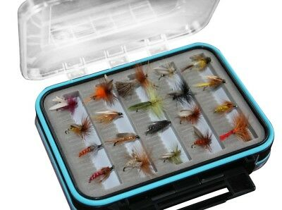 Flextec Assorted Fly Fishing Sedge Flies in box Fly Selection x 20