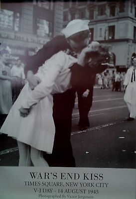 Victor Jorgensen HISTORY POSTER War/'s End Kiss Times Square New York Lt