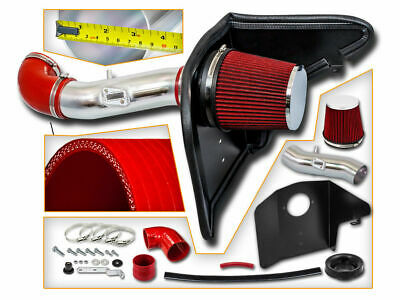 COLD SHIELD AIR INTAKE KIT + RED FILTER FOR Chevy 12-15 Camaro 3.6L V6 LS LT