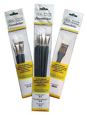Winsor & Newton Foundation™ Acrylic Brushes - choice of brush packs
