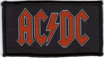 Ac/dc Red Logo Sew On Woven Patch !