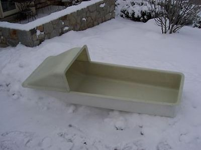 Snowmobile Ice Fishing Sled With Tow Bar Turns Swivels Curves