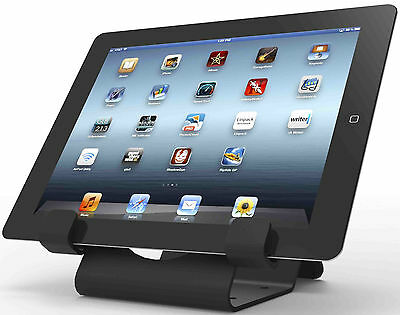 Universal Tablet Holder - iPad Security Stand with Cable Lock- Black