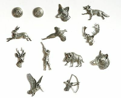 Shooting Theme Pewter Fridge Magnets  Clays Pheasant Stag Boar MULTI LISTING
