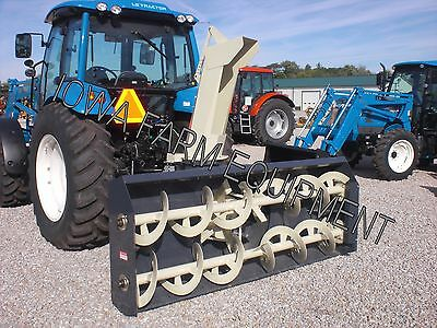 "RED Farm King Y960 96"" Tractor PTO Snow Blower:4BladeFan,SkidShoes:BESTBUY&BRAND"
