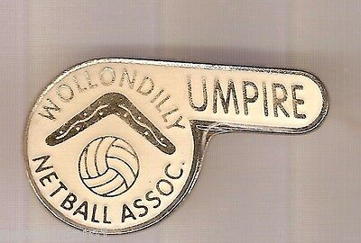#d60.  Wollondilly Netball Association Empire Lapel Badge