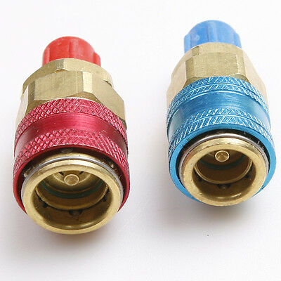 AC Auto/Car Refrigerant  QUICK COUPLER Adapter High Low Connector R134A QC-12 LH