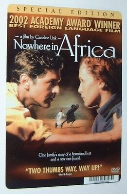 NOWHERE IN AFRICA movie backer card  (this is NOT a dvd)