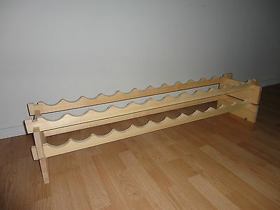 * Modular Stackable Wine Rack Made of Solid Russian Pine Wood - 24-144 Bottles *