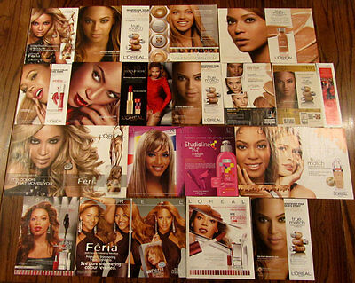 16 L'Oreal Ad clippings -- Beyonce