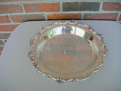 EPCA Bristol Silverplate Tray by Poole 85 Ornate 13 1/4 in. Polished 2 in. Deep
