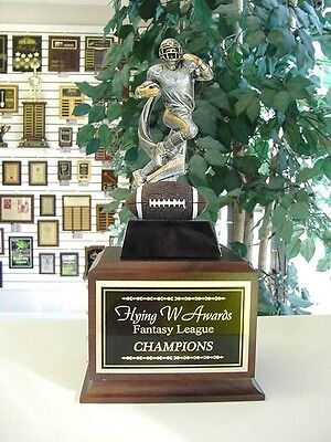 Fantasy Football Perpetual Trophy 16 Years  Player On Ball