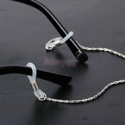Unisex Silver Eyeglass Sunglass Reading Glasses Spectacle Eyewear Chain Holder