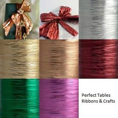 Quality 125mm Metallic Foil Wedding Christmas Craft Tying Gifts Wrapping Ribbon