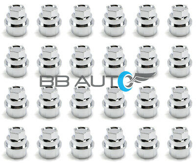 24 New Chrome Lug Nut Covers Caps Chevy Gmc Silverado 1500 2500 Full Size Truck