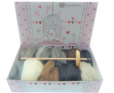Heidifeathers Drop Spinning Kit -  Natural Wool Tops