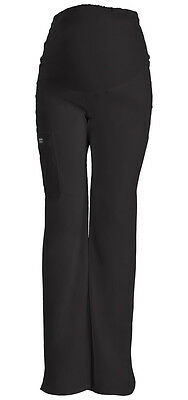 Cherokee Scrubs Core Stretch Maternity Pant 4208 Black BLKW  FREE SHIPPING!