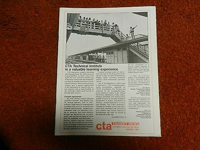 CTA Transit News Volume 34 Number 8 Aug, 1981 CTA Technical Institute Learning