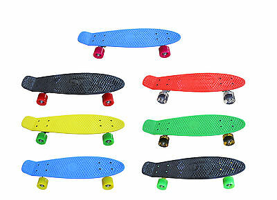 "New Retro Funky Colours Skateboard 22"" Cruiser Board Skate Board"