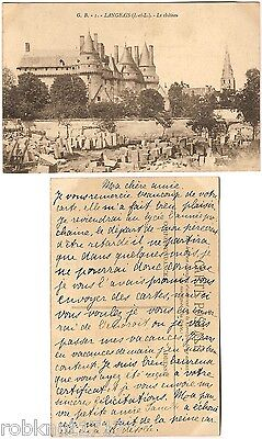 CPA carte postale postcard Church Eglise Château LANGEAIS → Tours 37 A