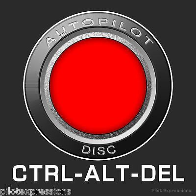 Pilot's CTRL-ALT-DEL Aviation Sticker/Aviation Decal/Pilot Sticker/Luggage Decal