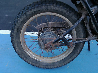 Yamaha DT125 DT 125 1979 79 Rear Back Wheel and Brake Assy Wrecking Parts