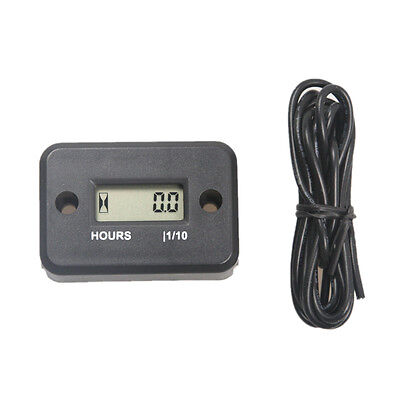 LCD Digital Hour Meter for Marine ATVs Boat Quad Motorbike Snowmobile Motocross