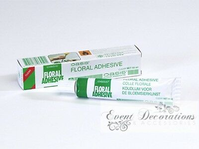OASIS FLORAL FLORIST ADHESIVE TUBE WATERPROOF GLUE CLEAR 50ml! 6250