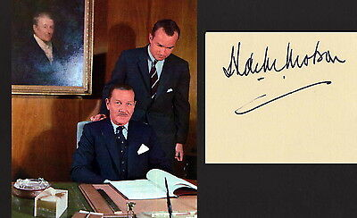 Hartland Molson Signed Montreal Canadiens Index Card Cut Signature With Photo