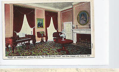 Parlor Federal Hill My Old Kentuctky Home  Bardstown  KY    Unused  Postcard 923
