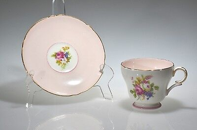 Vintage #13257 HULMES ROSE by Shelley China Henley Style Cup & Saucer EUC