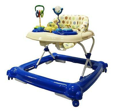 Br New Sturdy Musical Beautiful Baby Walker Toys and Activity Play Centre Blue