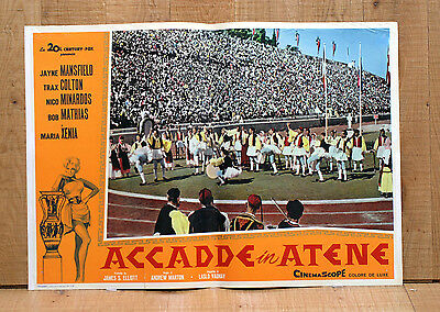 ACCADDE IN ATENE fotobusta poster Giochi Greek Games Sport It Happened in Athens